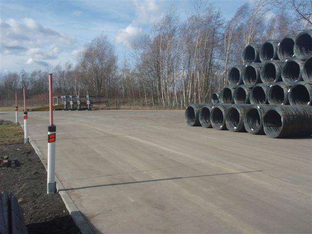 Výstavba skladovacích ploch firmy Bekaert Petrovice