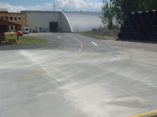 Výstavba logistického centra vč. komunikací firmy Bekaert v Petrovicích