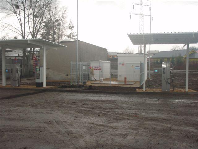 Výstavba čerpací stanice CNG v Jablunkově